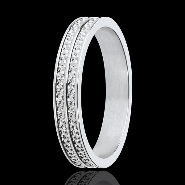 Alliance Chemins de vie - or blanc 18 carats