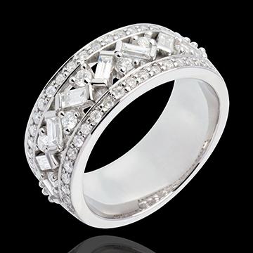 Bague Destinée - Impératrice - or blanc diamants - 0.9 carat