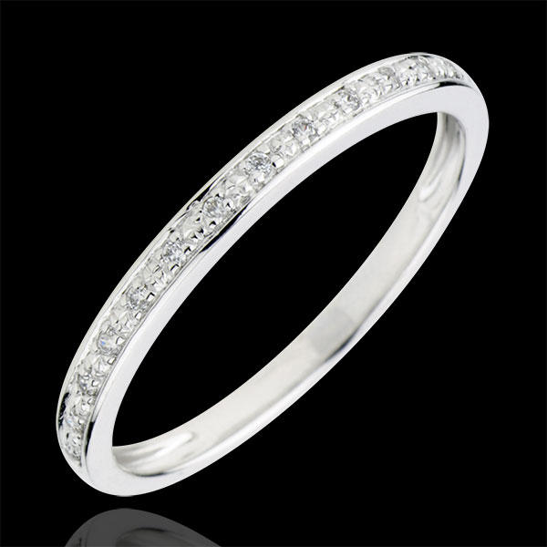 Populaire Alliance Eclats de diamant - or blanc 9 carats et diamants - demi  MV31