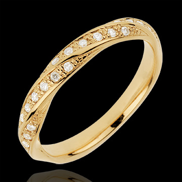 Alliance Tresse Précieuse - or jaune 18 carats