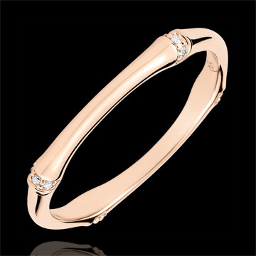 Alliance Jungle Sacrée - Multi diamants 2 mm - or rose 18 carats