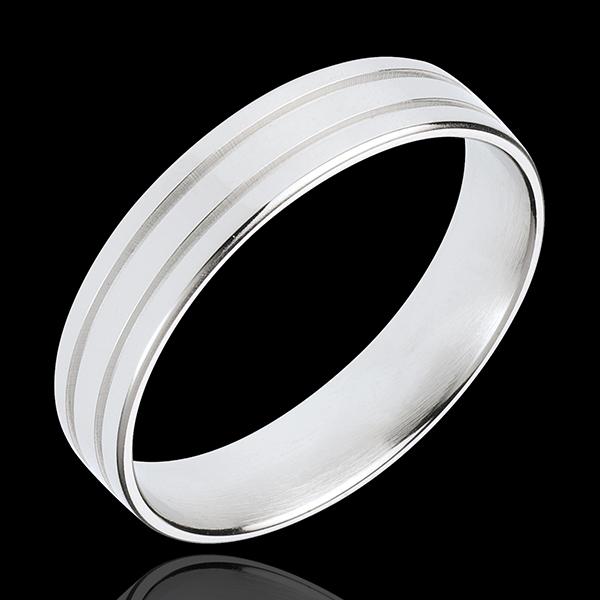 Alliance Gladiateur - or blanc 18 carats