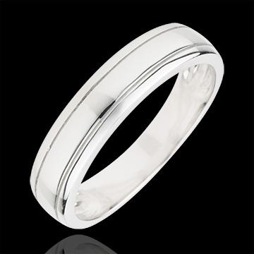 Alliance homme Horizon or blanc 18 carats