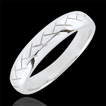 Alliance Tissage or blanc 9 carats