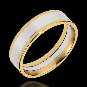 anneau dandy 6mm or blanc et or jaune 18 carats bijoux edenly. Black Bedroom Furniture Sets. Home Design Ideas