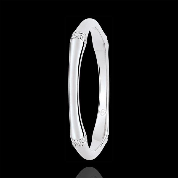 Alliance Jungle Sacrée - Multi diamants 2 mm - or blanc 9 carats