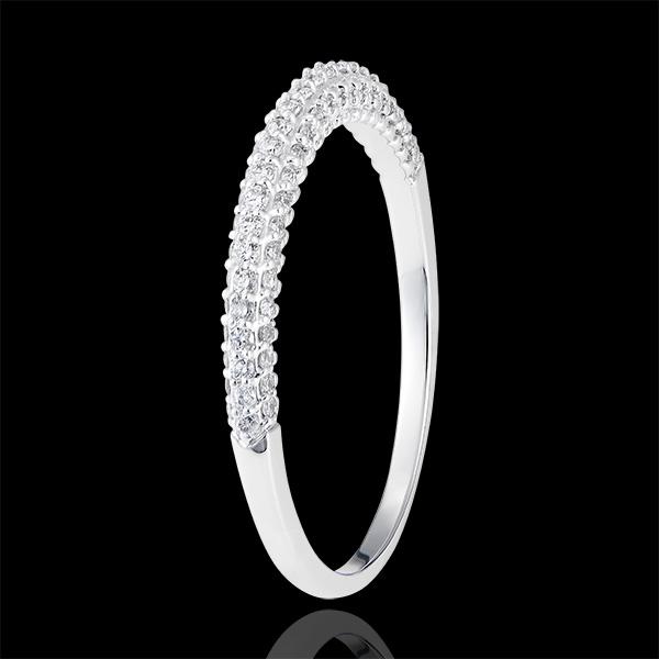 Alliance Myriade - or blanc 18 carats et diamants