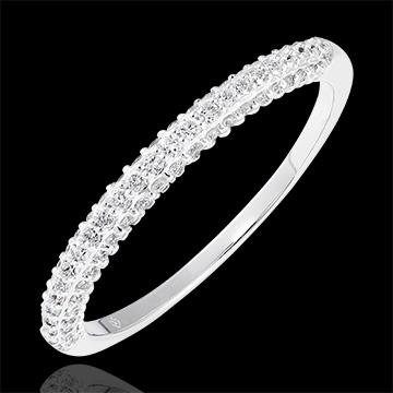 Alliance Myriade - or blanc 9 carats et diamants