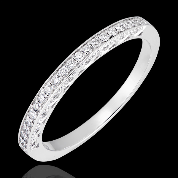 Alliance Myriade - variation - or blanc 18 carats et diamants
