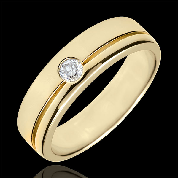 Alliance Olympia Diamant - Grand modèle - or jaune 18 carats