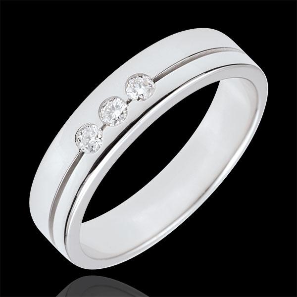 Alliance Olympia Trilogie - Moyen modèle - or blanc 18 carats