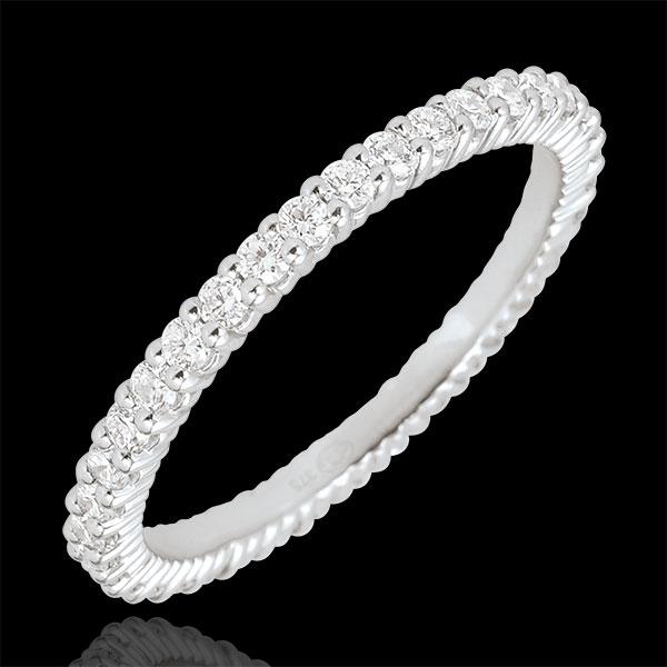 Alliance or blanc 18 carats Radieuse - 37 diamants - 0.57 carat