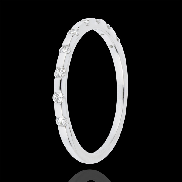 Alliance Oriane - or blanc 18 carats