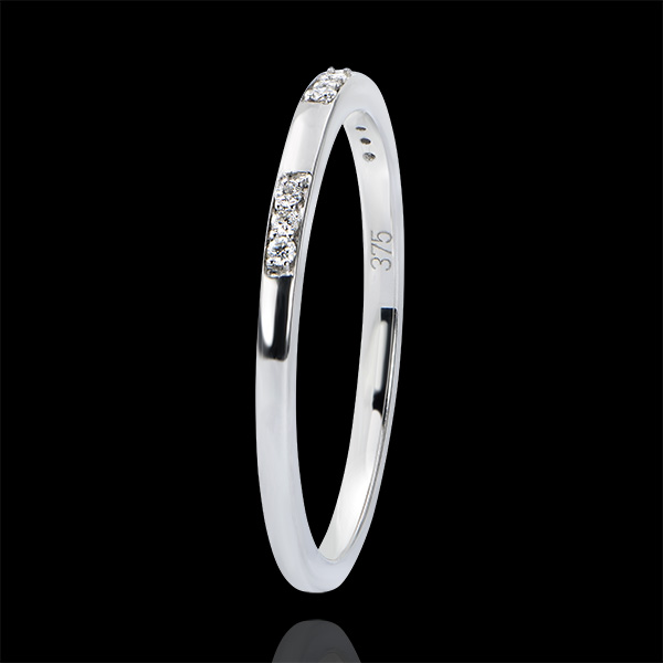 Alliance Origine - Demoiselle - or blanc 9 carats et diamants