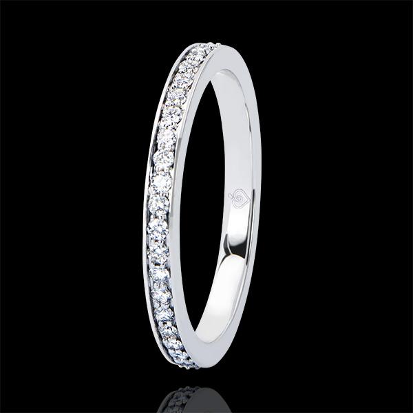 Alliance Origine - Scintillante - or blanc 18 carats et diamants