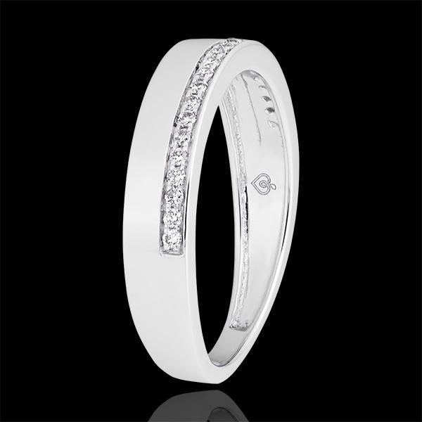 Alliance Passion - variation - or blanc 9 carats et diamants