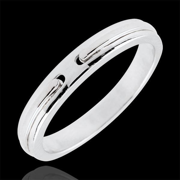 Alliance Promesse - or blanc 9 carats - petit modèle