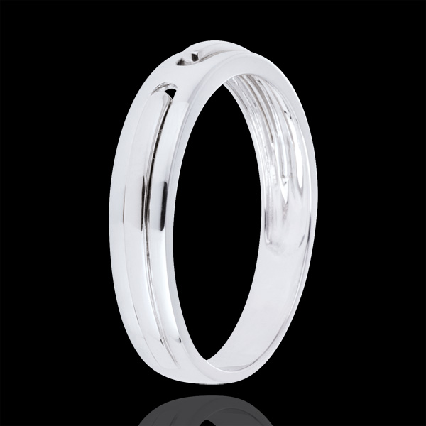 Alliance Promesse - tout or - or blanc 9 carats