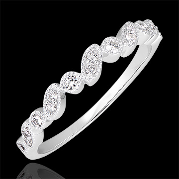 Alliance Regard Levant - variation - or blanc 9 carats et diamants