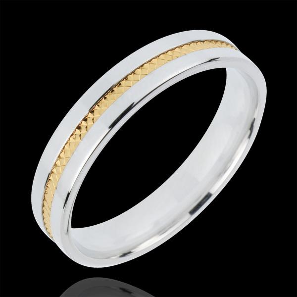 Alliance Romeo - or blanc et or jaune 18 carats