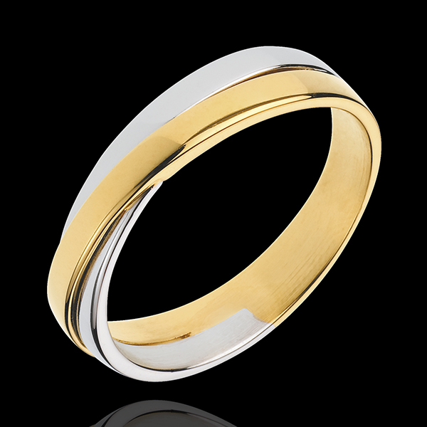 Alliance Saturne Duo - tout or - or blanc et or jaune 18 carats