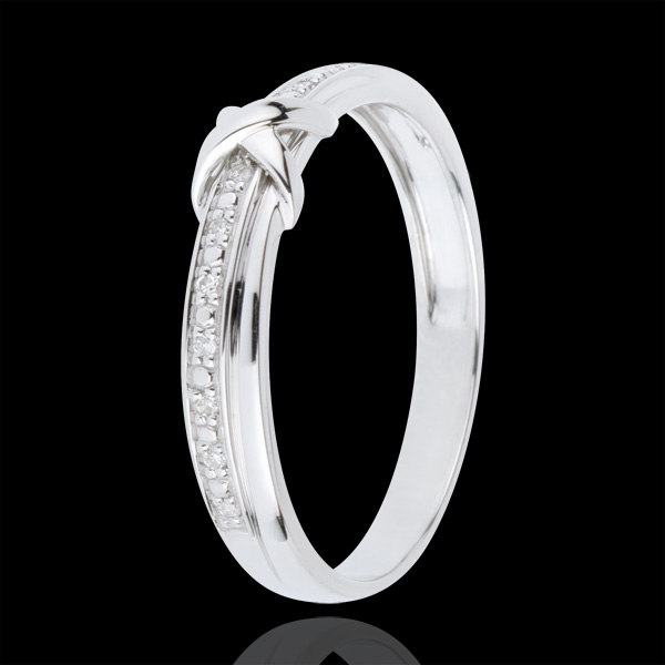 Alliance Signe D'Amour - or blanc 18 carats diamant