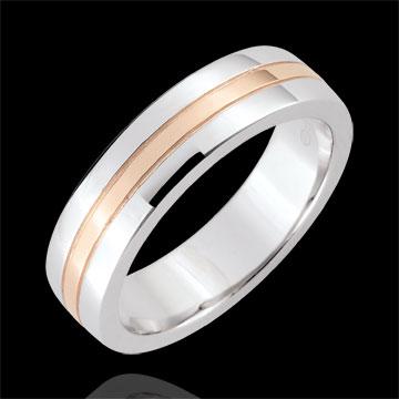 Alliance Star - Petit modèle - or blanc et or rose 9 carats