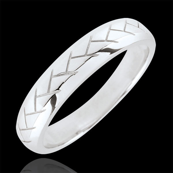 Alliance Tissage or blanc 9 carats