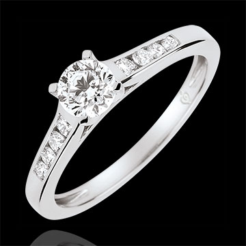 Altesse Solitaire Engagement Ring - 0.4 carat diamond - white gold 18 carats