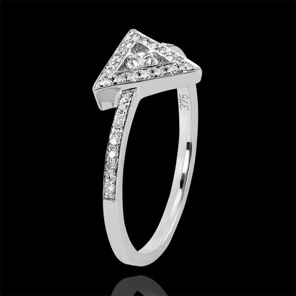 Anello Abbondanza - Gravità - oro bianco18 carati e diamanti