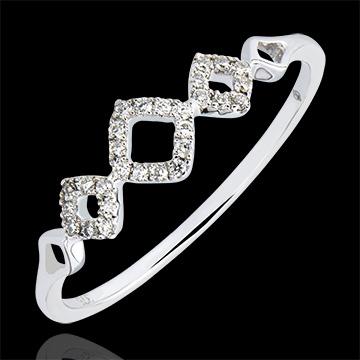 Anello Abbondanza - Losangelique - oro bianco 9 carati e diamanti