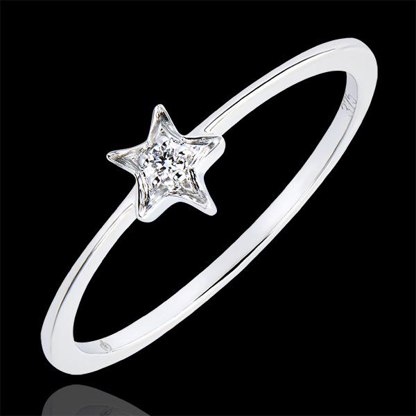 Anello Abbondanza- Mia stella - oro bianco 18 carati e diamante