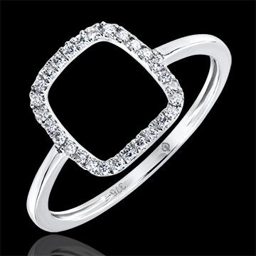 Anello Abbondanza - Nudo - oro bianco 9 carati e diamanti