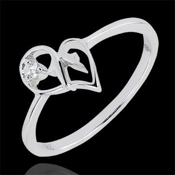 Anello Abbondanza - Tentazione - oro bianco 9 carati e diamante
