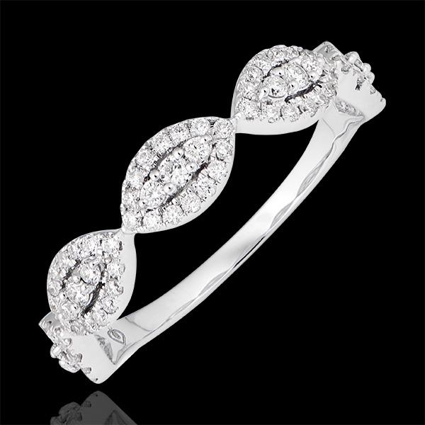 Anello Amandiane - oro bianco 9 carati e diamanti
