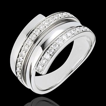 Anello Baltico - Oro bianco - 18 carati - 30 Diamanti - 0.45 carati