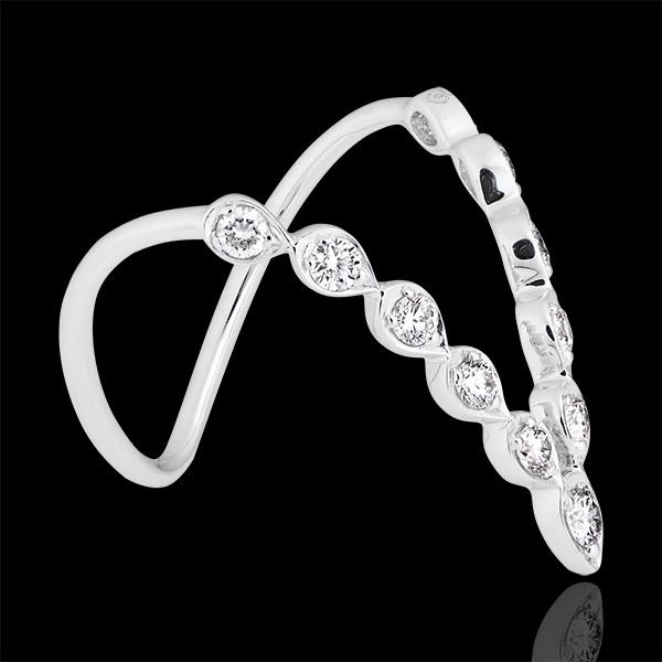 Anello Cleopatra - oro bianco 9 carati e diamanti