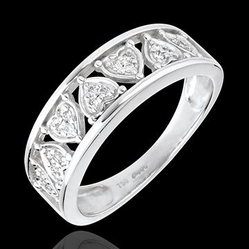 Anello Destino - Clotilde - Oro bianco - 18 carati - Diamante