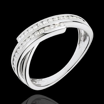 Anello Desiderio prezioso - Oro bianco - 18 carati - 30 Diamanti - 0.21 carati