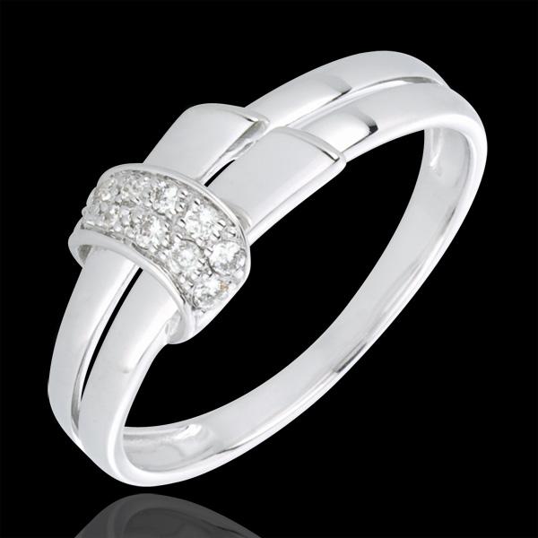 Anello Desira - Oro bianco - 18 carati - 10 Diamanti