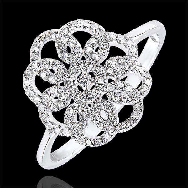 Anello Destino - Arabesque - oro bianco 9 carati e diamanti