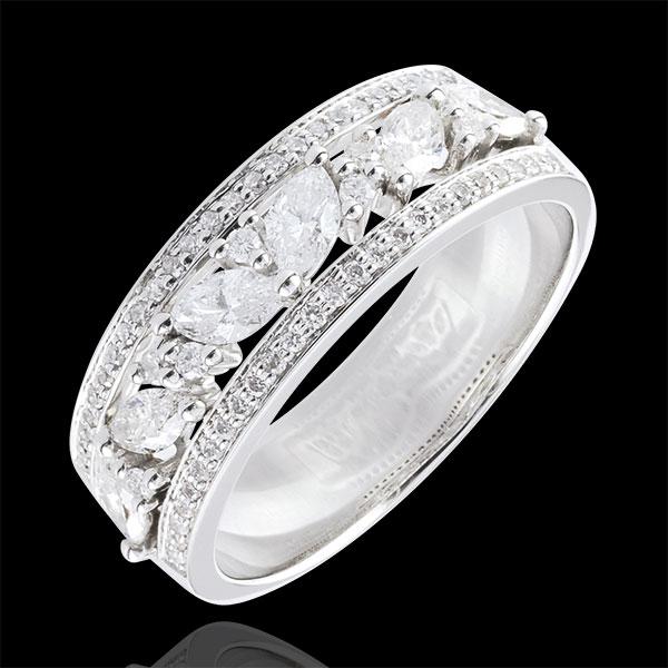 Anello Destino - Bizantino - Oro bianco - 9 carati - Diamanti - 0.68 carati