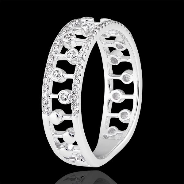 Anello Destino - Philipine - oro bianco 9 carati e diamanti