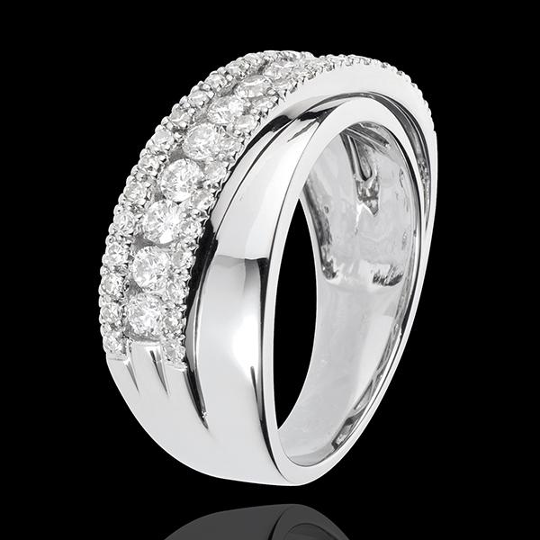 Anello Destino - Victoria - Oro Bianco - 18 carati - Diamanti - 0.79 carati