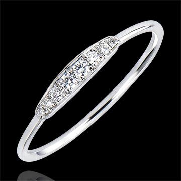 Anello di Fidanzamento Abbondanza - Armonia - oro bianco 18 carati e diamanti