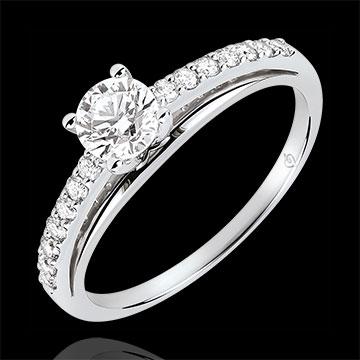 Anello di fidanzamento - Avalon - Diamante 0.4 carati - Oro bianco 9 carati