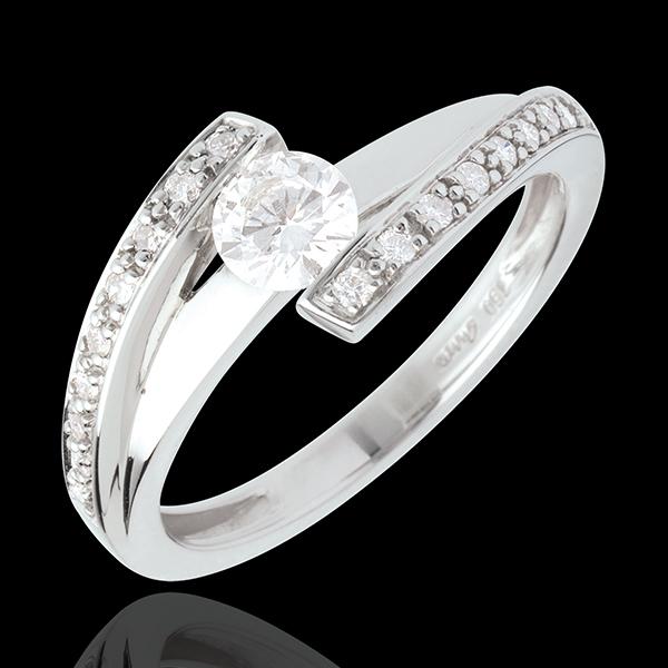 Anello di fidanzamento Destino - Eleonora - Oro bianco - 18 carati - Diamante 0.37 carati