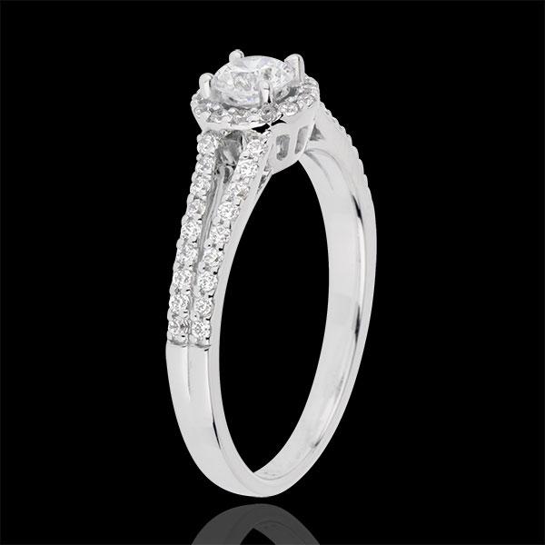 Anello di fidanzamento Destino - Giuseppina - Oro bianco - 18 carati - Diamante centrale - 0.3 carati
