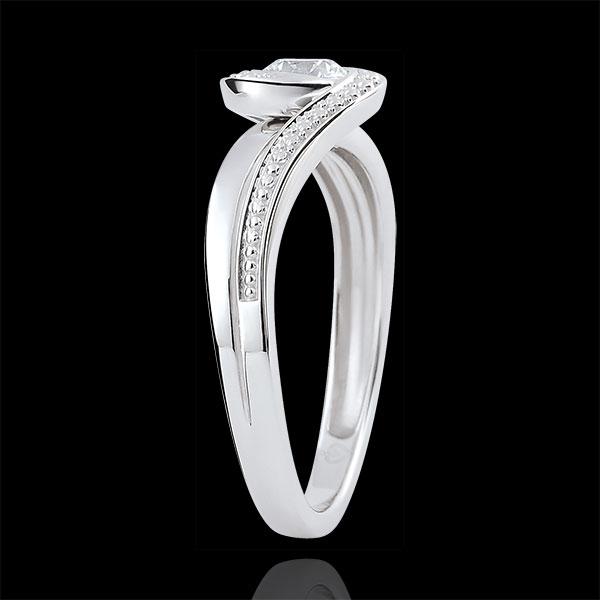Anello di fidanzamento Nido Prezioso - Preziosa - Diamante 0.3 carati - Oro bianco 9 carati