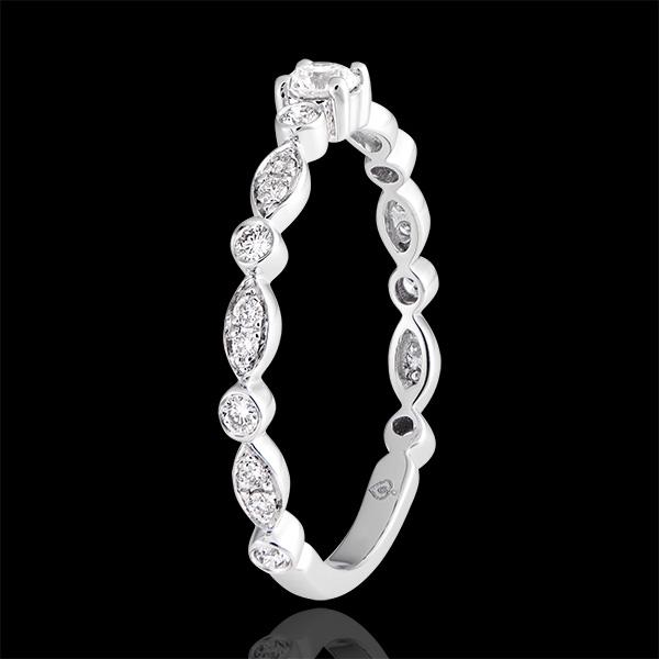 Anello di fidanzamento Petites Pampilles - oro bianco 18 carati e diamanti